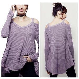 Free People Moonshine V- Neck Oversized Sweater